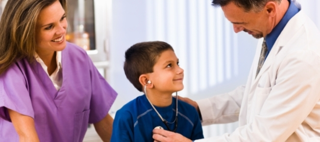 boy with doctor and nurse